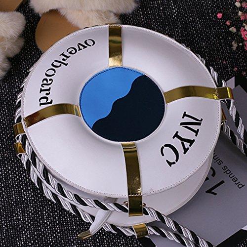 Nouveau Bateau Sauvetage Nouveau Paquet Portable Mode Petit Le Épaule Ms Main De De Sac Anyer À Personnalité Rond Paquet YEwx0qIAI