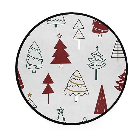 Alfombra redonda con diseño de Navidad, antideslizante ...