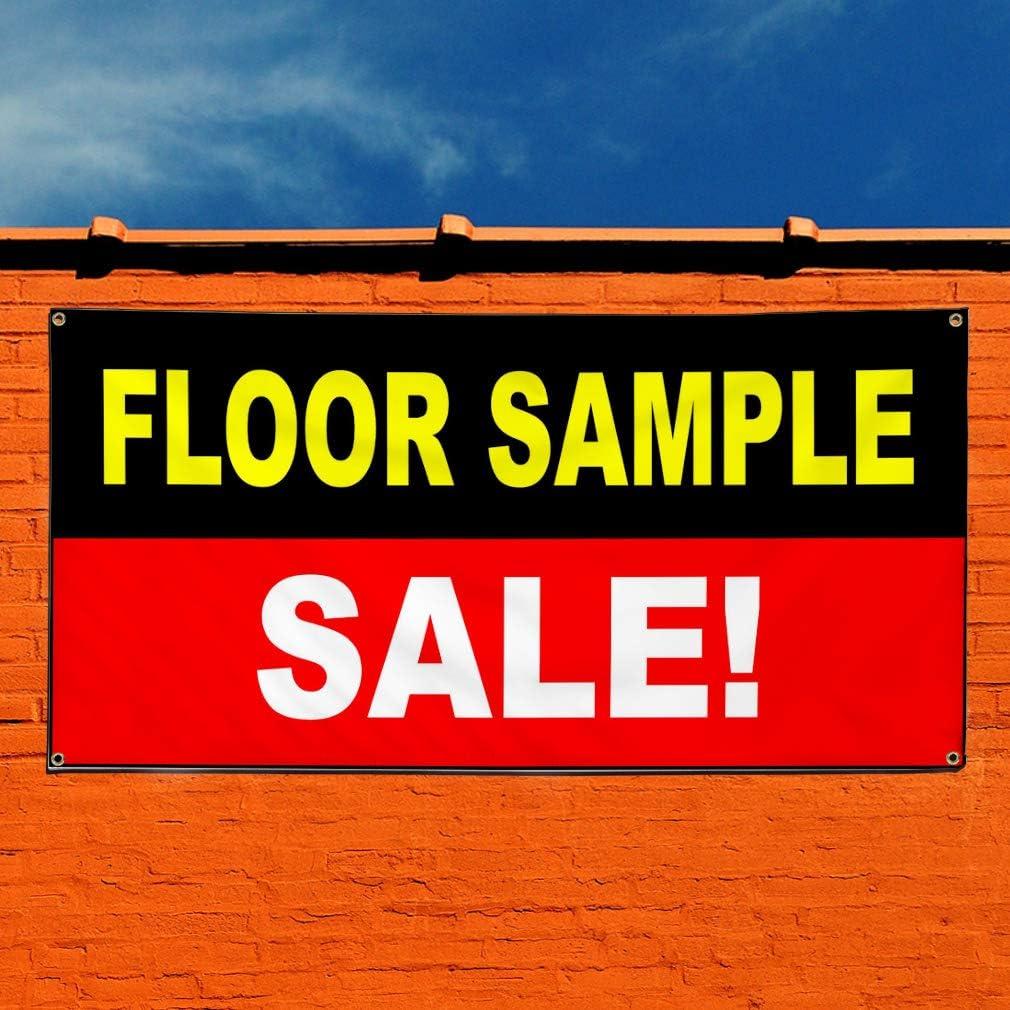 Vinyl Banner Sign Floor Sample Sale Black Red White Business Marketing Advertising Black 28inx70in Multiple Sizes Available 4 Grommets Set of 2