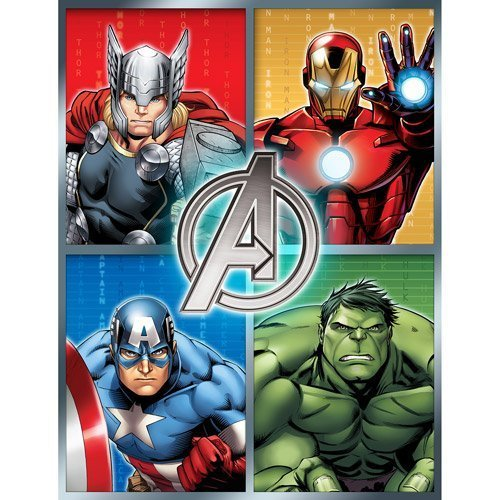 Marvel Avengers 46 X 60 Plush Microfiber Throw