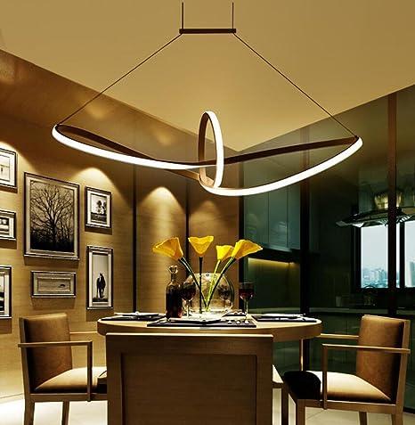 Hervorragend LED Pendelleuchte Esstisch Hängelampe Pendellampe Kronleuchter Wohnzimmer  Küche Pendel Moderne Aluminiu Hängeleuchte Pendellänge Maximum 120 Cm