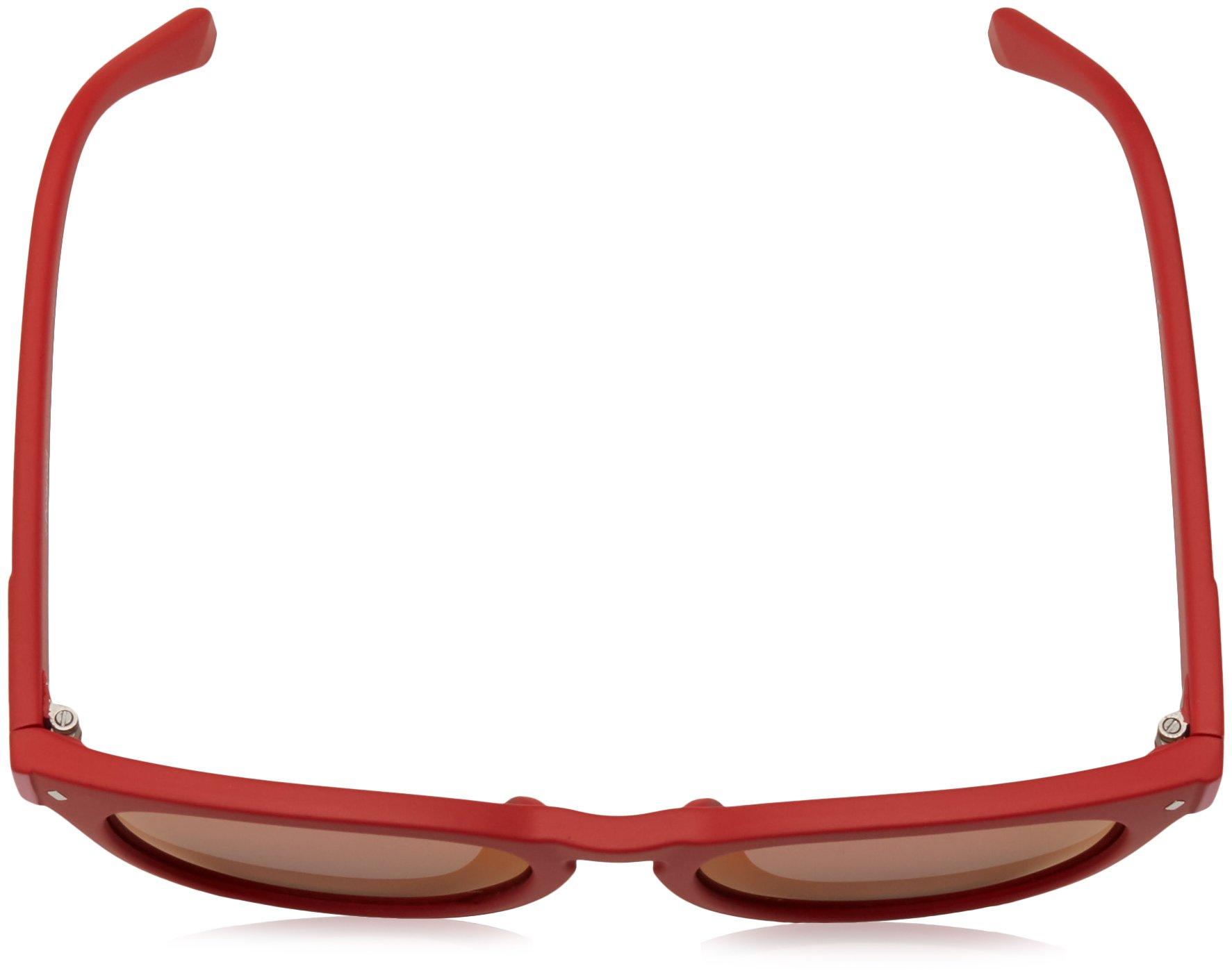 Polaroid Sunglasses Girls' Pld8026fs Polarized Oval Sunglasses, RED, 49 mm by Polaroid Sunglasses (Image #2)