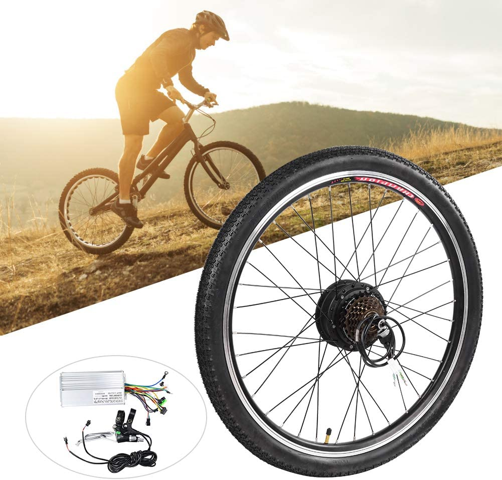Kit de motor de bicicleta eléctrica, aleación de aluminio 36V 250W 26 pulgadas Bicicleta eléctrica Ebike Conversion Hub Motor Kit de rueda de motor, conversión de motor de bicicleta eléctrica
