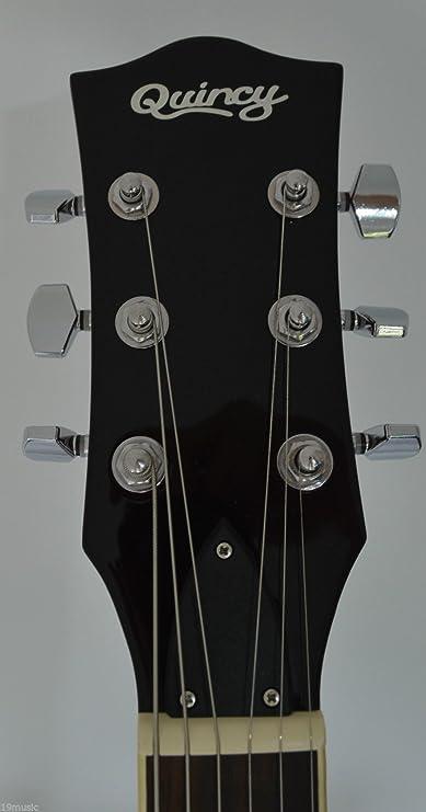 335 de forma de WINNIPEG semi hueco de la guitarra eléctrica por parte de QUINCY (6 cuerdas): Amazon.es: Instrumentos musicales
