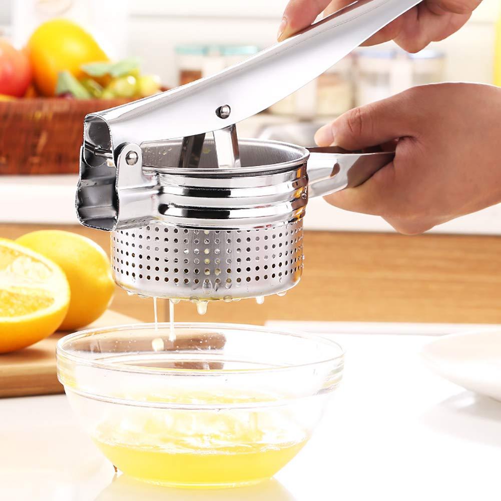 DKEyinx - Exprimidor manual de limón de acero inoxidable, prensa de limones, pulsa la prensa, exprimidor de frutas, zumo, fabricante, cocina, verduras, ...