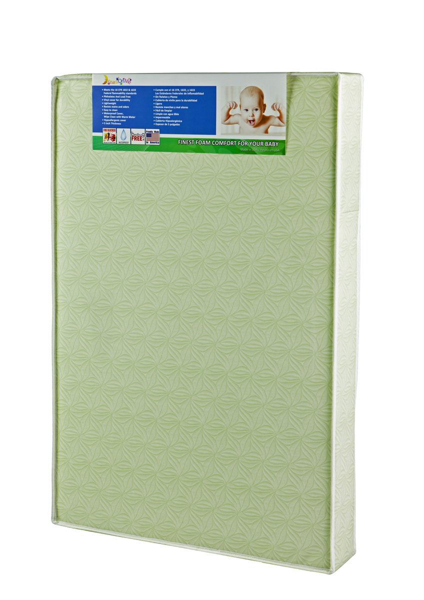 Dream On Me 5'' Double Sided Play Yard Foam Mattress, Green