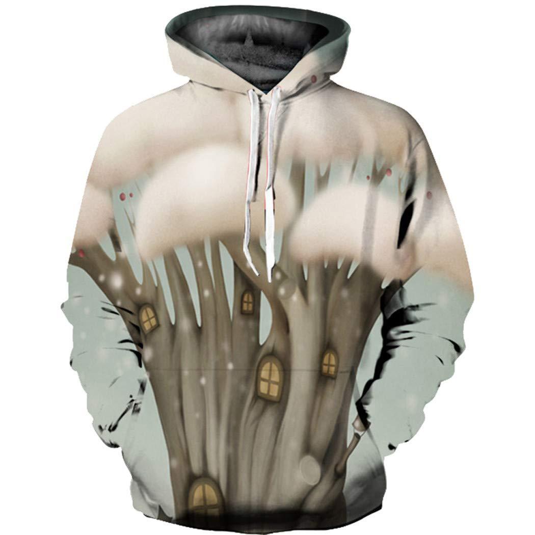 Alixyz ユニセックス クリスマス スウェットシャツ 3D プリント ギャラクシー プルオーバー パーカー 大きなポケット付き B07H9C5N6H マルチカラー2 2XL/3XL