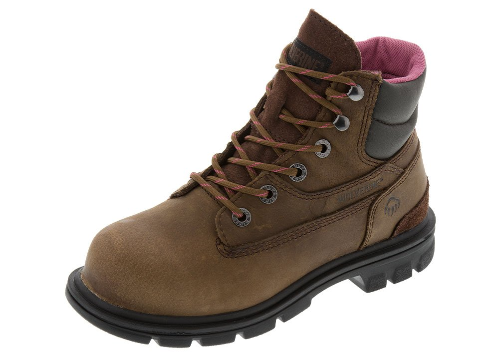 Wolverine Women's 08693 Belle 6` ST Work Boot (6 B(M) US, Brown)