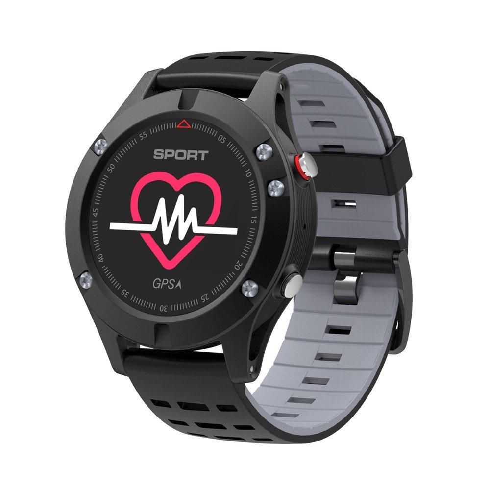 Dsmart SP Serials GPSスポーツSmart Watch FitnessアクティビティTraker With Heart Rate Monitor / Barometer /高度計/ B07BVLN4RV グレー