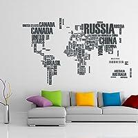 TilkiDünyası Dünya Haritası Ülke Adları XL Duvar Sticker Dünya Ülkeleri Atlas Dekoratif Duvar Sticker