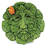Top Collection Garden Broadleaf Green Man Hanging Plaque, Large