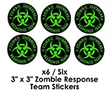X6 Zombie Decal Stickers Outbreak Response Team Vinyl 3