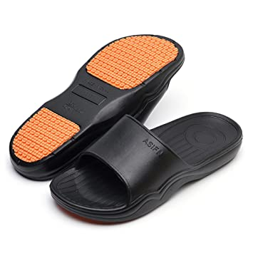 ef0ce5033 Happy Lily Unisex Slip-on Slippers Non-Slip Open Toe Shower Sandals Indoor  Outdoor Mule Think ...