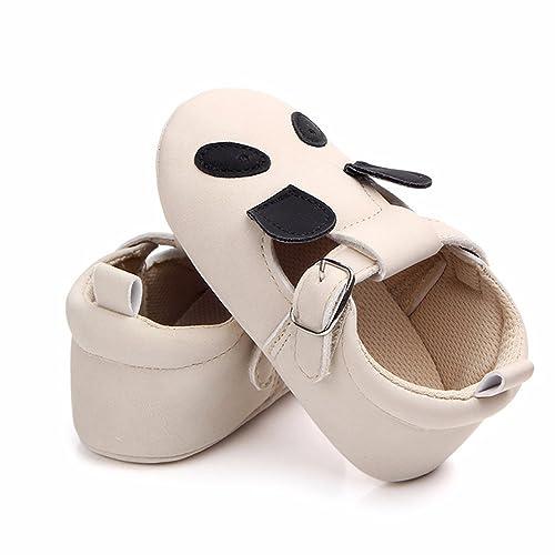 2d803fd1bbdf0e HONGTEYA Baby Moccasins - Boys Girls Sandals Animal Soft Soled Non-Slip  Infant First Walkers
