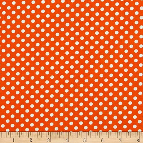 Newcastle Fabrics Polka Dot Orange, Fabric by the Yard