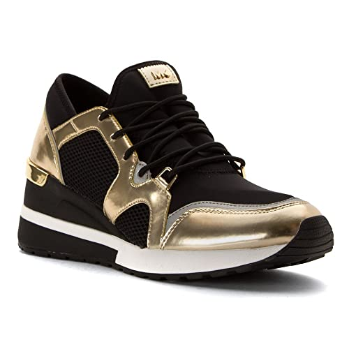Michael Kors Zapatillas Scout Trainer Black Pale Gold Mesh 37: Amazon.es: Zapatos y complementos