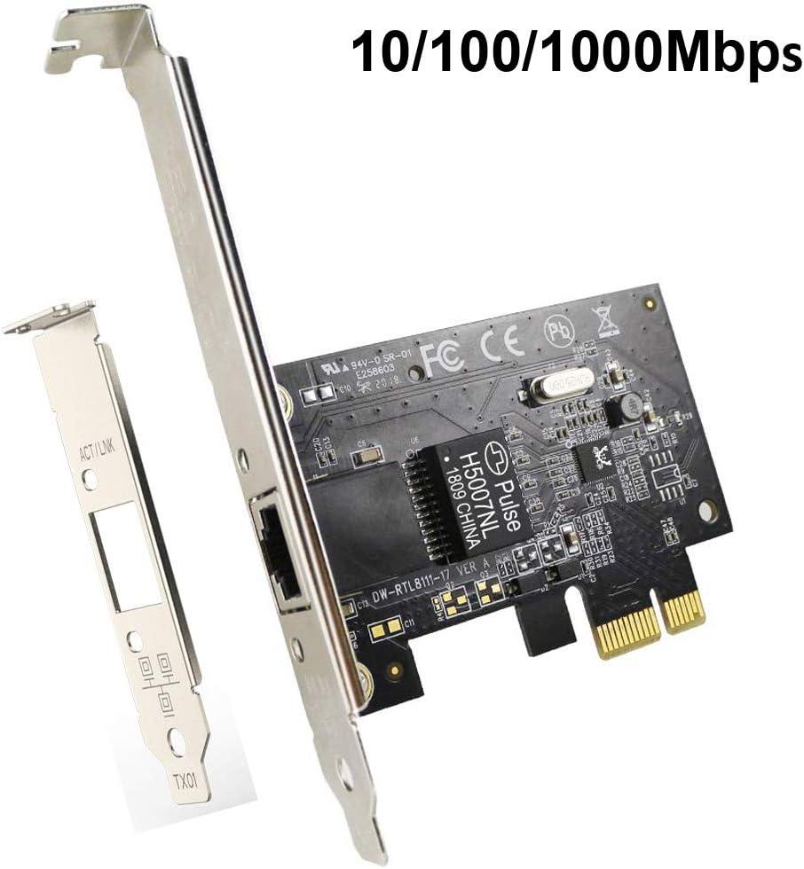 EDUP LOVE PCI-E Gigabit Network Card Ethernet PCI Express Networking Adapter 10/100/1000Mbps RJ45 LAN Adapter Converter for Desktop PC