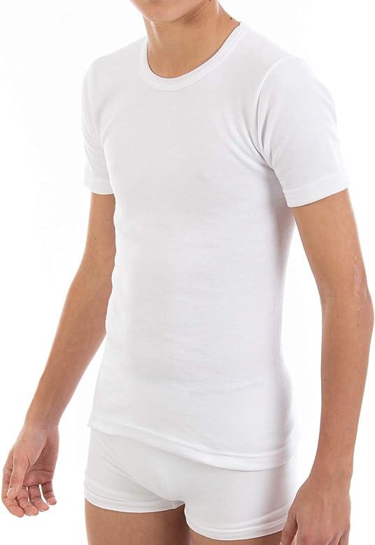 Camiseta Interior Termal de niño L116, de Manga Corta y Cuello Redondo. Pack Ahorro de 6 Unidades de la Misma Talla y Color. (2): Amazon.es: Ropa y accesorios