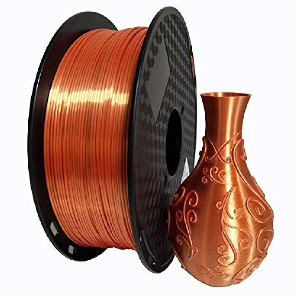 KEHUASHINA Filamento PLA Silk seda de 1.75 mm para impresora 3D Accesorio de impresora 3D Material de impresi/ón 5D 1kg de bobina Azul Cielo