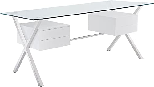 Modway Abeyance Contemporary Modern Glass-Top Office Desk