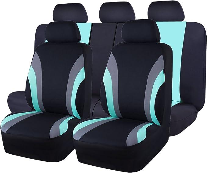 Coprisedili Auto Anteriore Universali Set di 9 Completo di Coprisedili per Auto Macchina Seat Cover Universali Protezione per Sedile