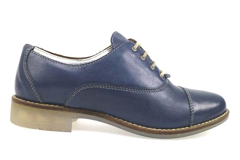 MICHEL BATIC elegantes para mujer cuero azul AP915 36 EU