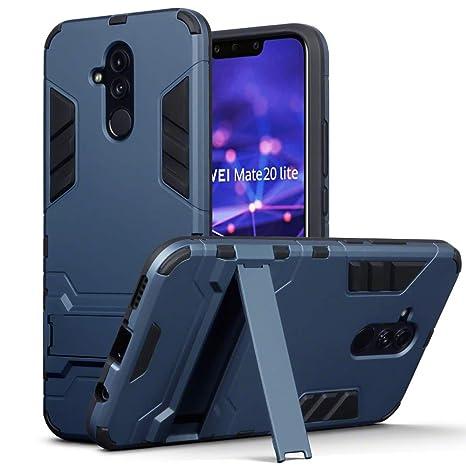 nuovo stile 3336e 6612b TERRAPIN Custodia Huawei Mate 20 Lite, Silicone e Cover di Policarbonato  Rigida con Funzione di Appoggio per Huawei Mate 20 Lite Cover, Colore: Buio  ...