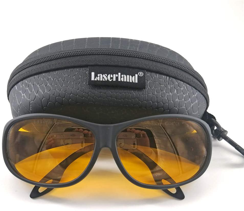 Gafas de protección láser 190-490 NM, Longitud de Onda, protección de Trabajo, diodo láser, VLT50%, protección Visual 405nm, 445nm, 450nm, 473nm, OD4+OD6+