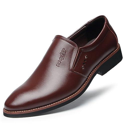 grande vente 17781 60c63 Homme Chaussure Habillé en Cuir sans Lacet Mocassin Chaussure d'affaire  Soulier de Ville Basse