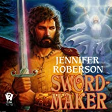 Sword-Maker: Tiger and Del, Book 3 Audiobook by Jennifer Roberson Narrated by Stephen Bel Davies