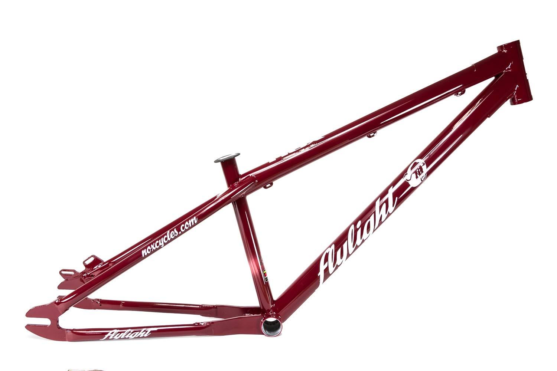 26 Zoll NOX Flylight Dirt Bike Fahrrad Rahmen Stahl Frame Reynolds 520 CRMO Rh 32cm rot