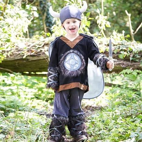 Kids - Disfraz de guerrero vikingo para niño, talla 3-5 años ...