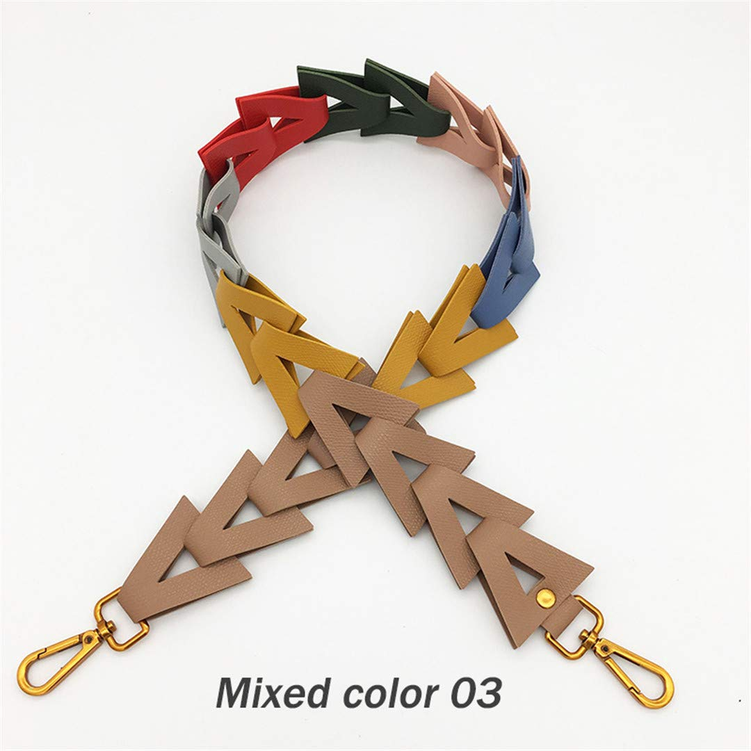 Lady Replacement Leather Strap For Crossbody Bag Parts Accessories Handbag Shoulder Bags Straps Colorful Hand Knitting Long Belt black light gold buckle