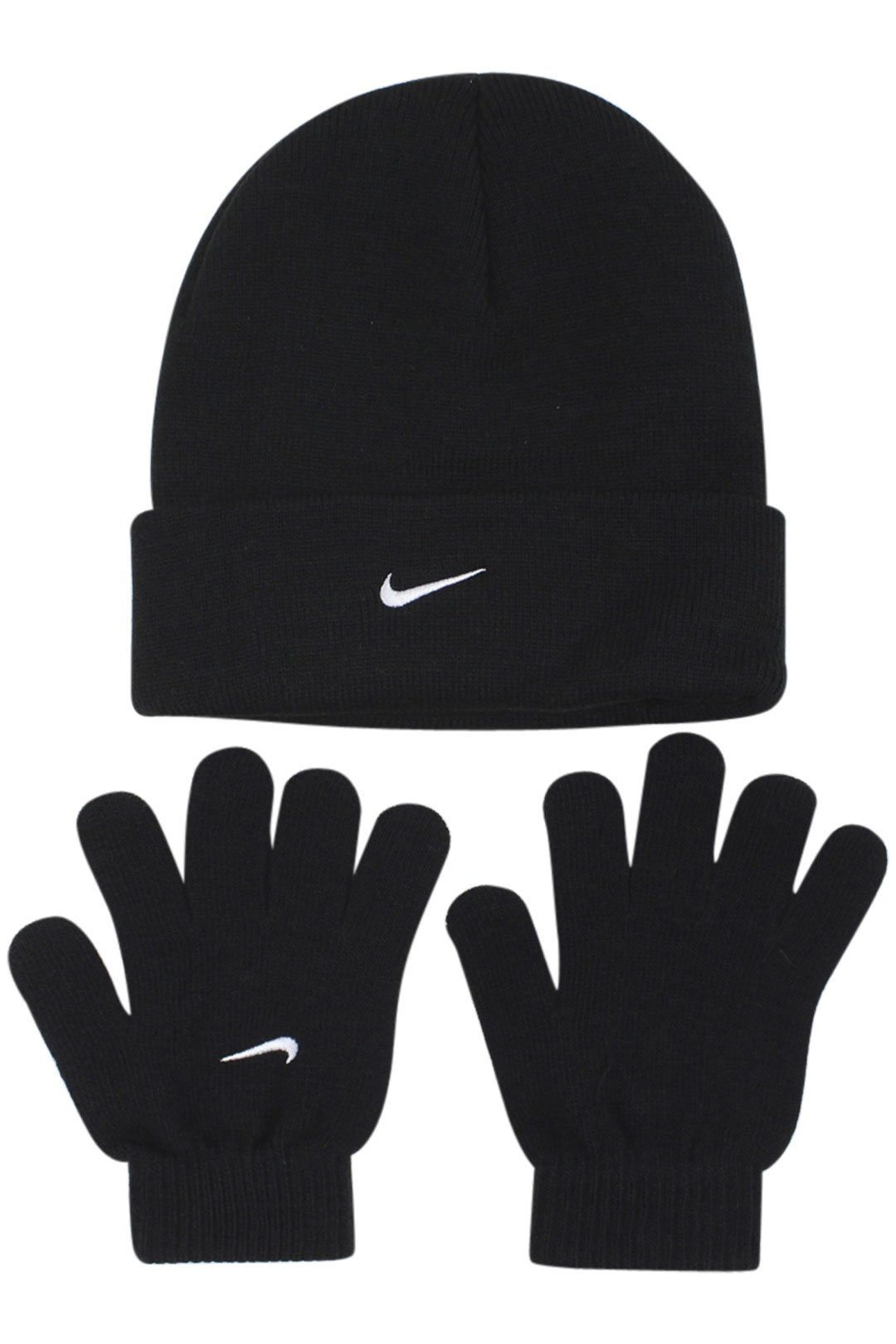 Nike Boys One Size 8/20 2 Piece Hat and Glove Set Black