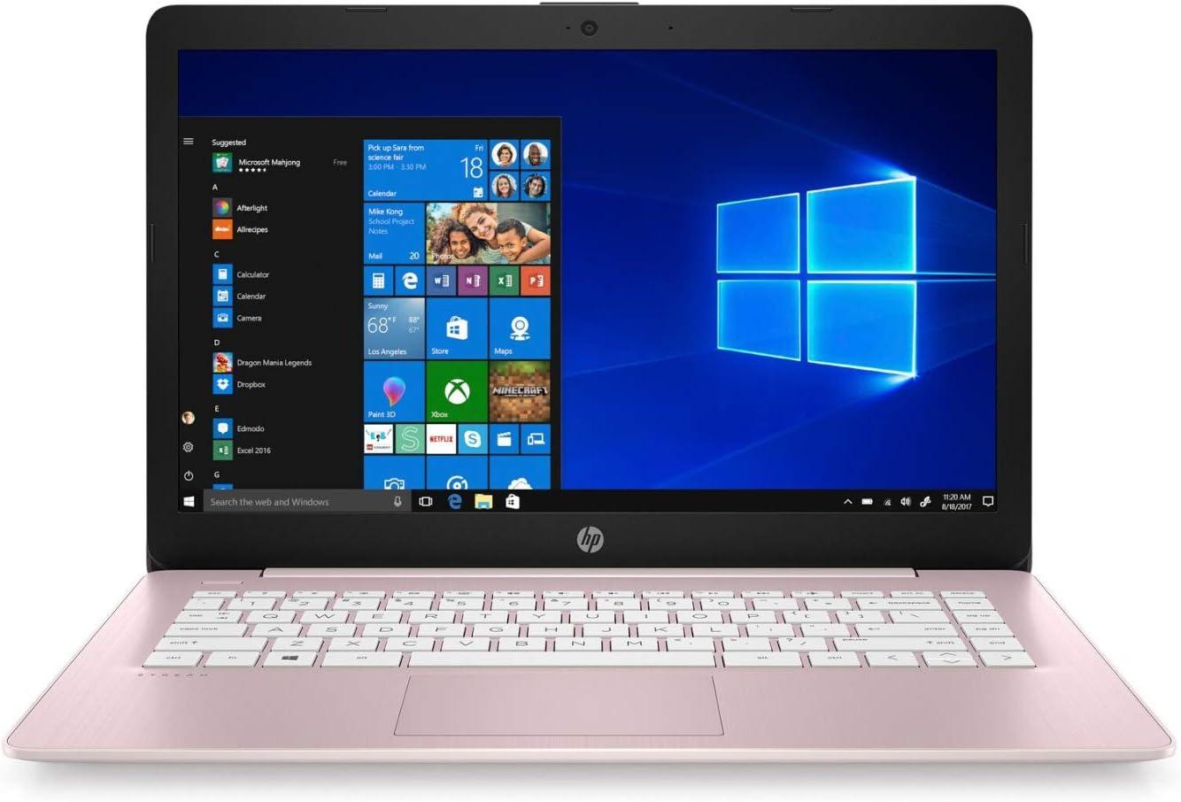 HP Stream 14-cb Laptop Intel Celeron 4GB RAM 64GB eMMC 14-inch HD WLED Office 365 Personal 1-Year Win 10 s