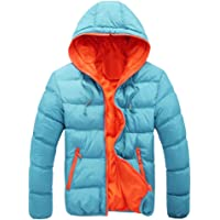 WuyiMC Big Men's Slim Casual Warm Jacket Hooded Winter Thick Coat Parka Overcoat Hoodie