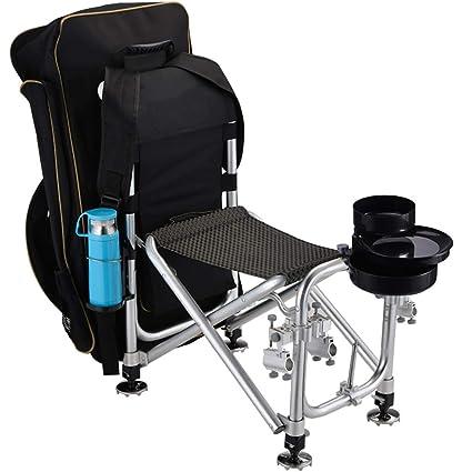 Amazon com : EGCLJ Camping Fishing Tackle Seat Box, Folding