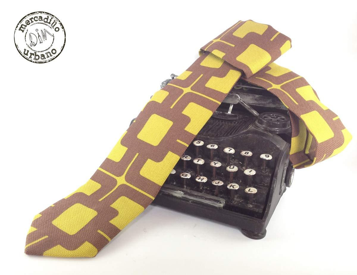 Corbata Retro Vintage mostaza y marrón para niños, niñas, jóvenes ...