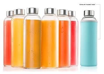 Botellas de cristal 6 unidades Martillo de – incluye 6 mangas – Botellas de cristal para