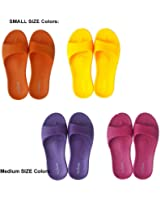 ALL CLEAN E.V.A ECO Friendly Indoor Slides Sandals 4 Pairs Set