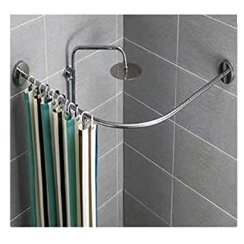 Amazon Curved Shower Rod.Amazon Com Y Only Curved Shower Rod Tension Mount Curved