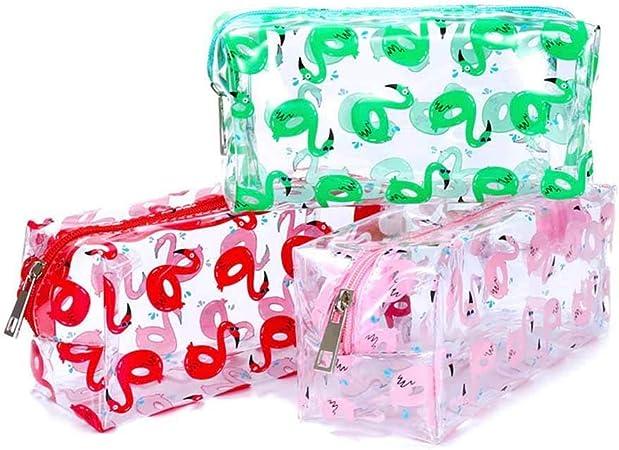 benefit-X - Neceser de plástico PVC Transparente con Cremallera, Bolsa de Almacenamiento para cosméticos: Amazon.es: Hogar