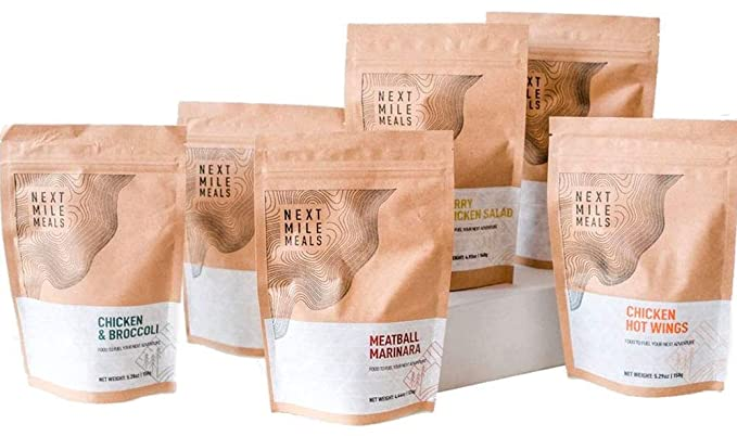 Next Mile Meals - Backpacking Food, Ketogenic, High-Calorie, Gluten-Free, Keto Friendly, Freeze-Dried Meals (6 Variety Pack)