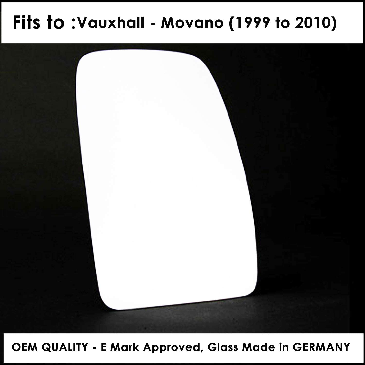 Right Hand Side Door Mirror Glass Convex For VAUXHL-Movano B Year 2010 To 2018 85mm Diameter fitting