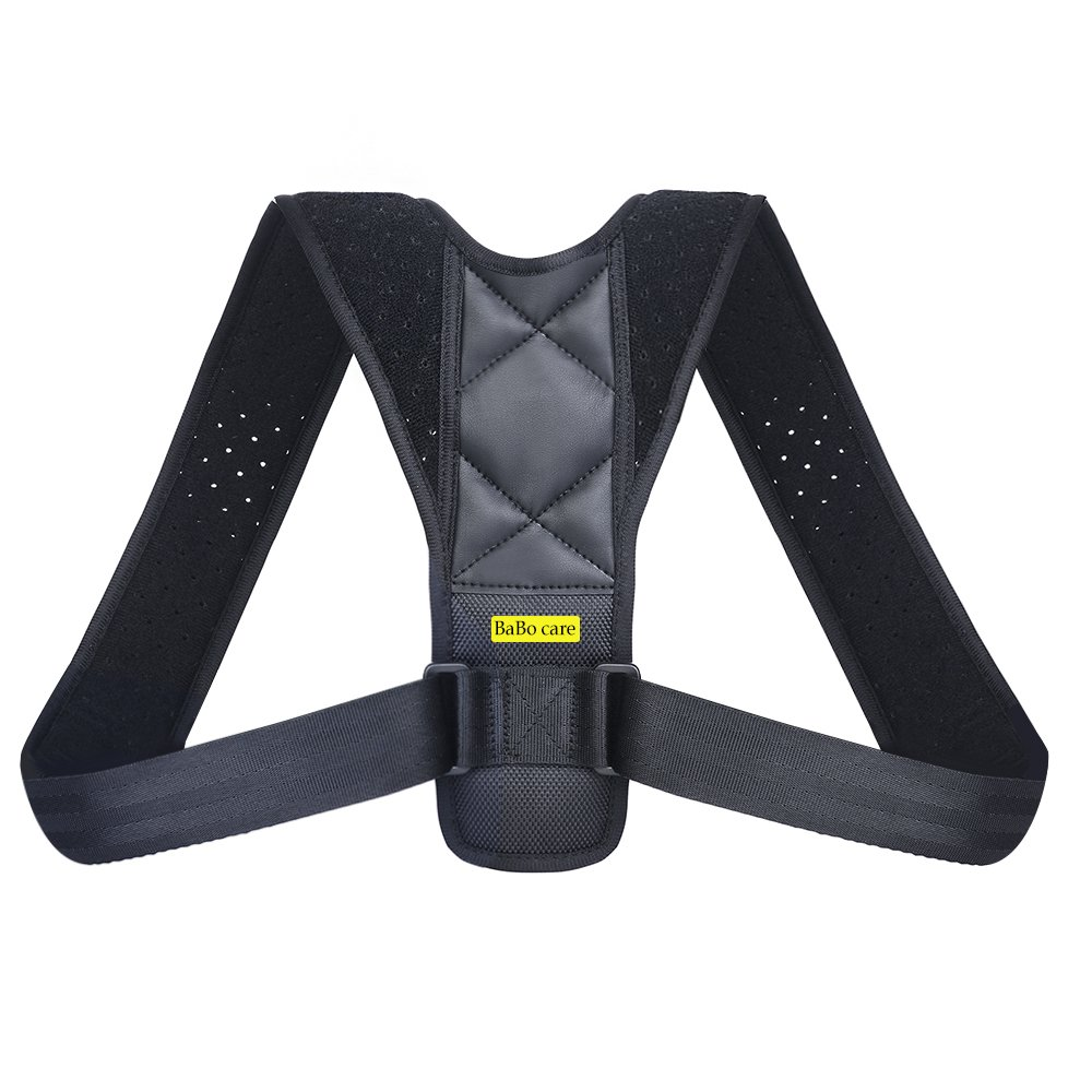 Posture Corrector Support Brace for Men & Women by Babo Care, Figure 8 Shaped Designed for Your Upper Back, Helps to Improve Posture, Prevent Slouching and Back Pain Relief
