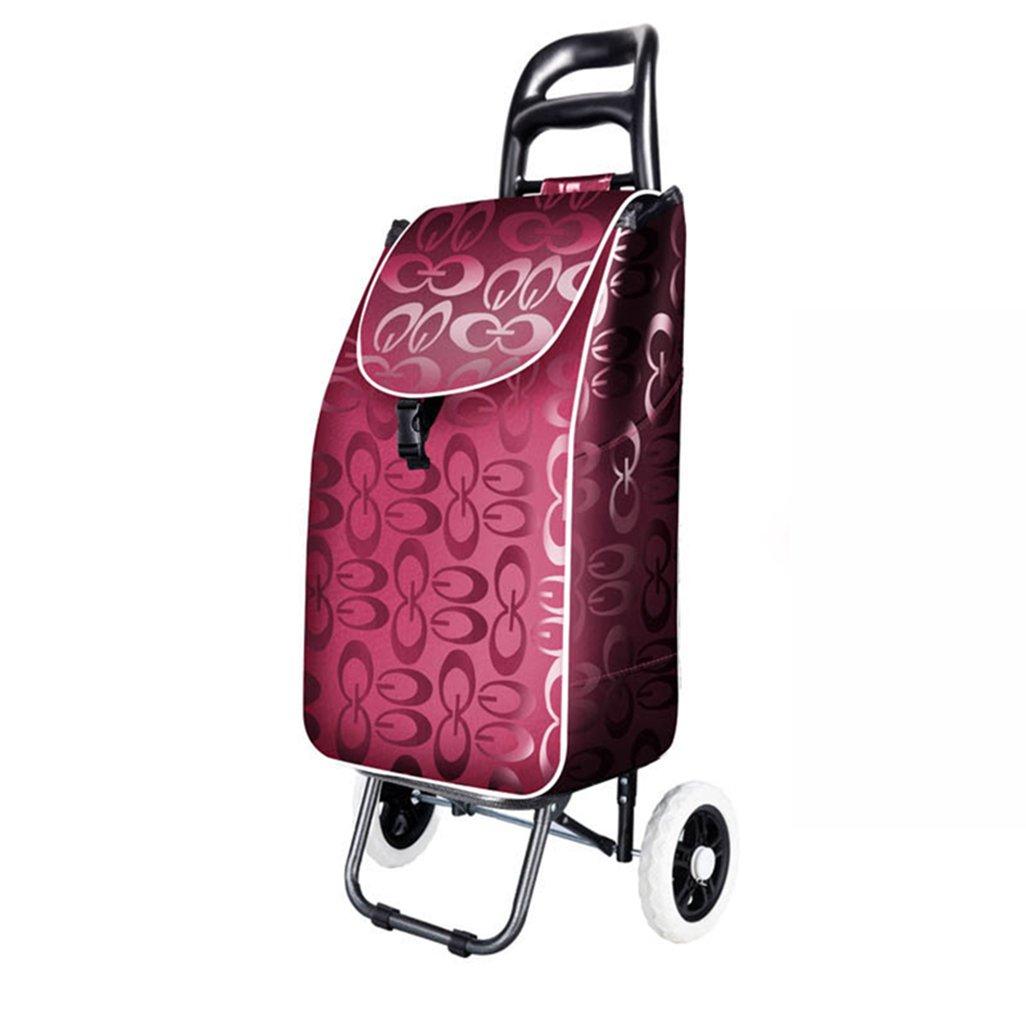 DNSJB ショッピングカート、ショッピングカート、小型カート、ポータブルカート、折りたたみ式トロリー、荷物、カート、カート、アークデザイン、外観、雰囲気 B07S7858RF