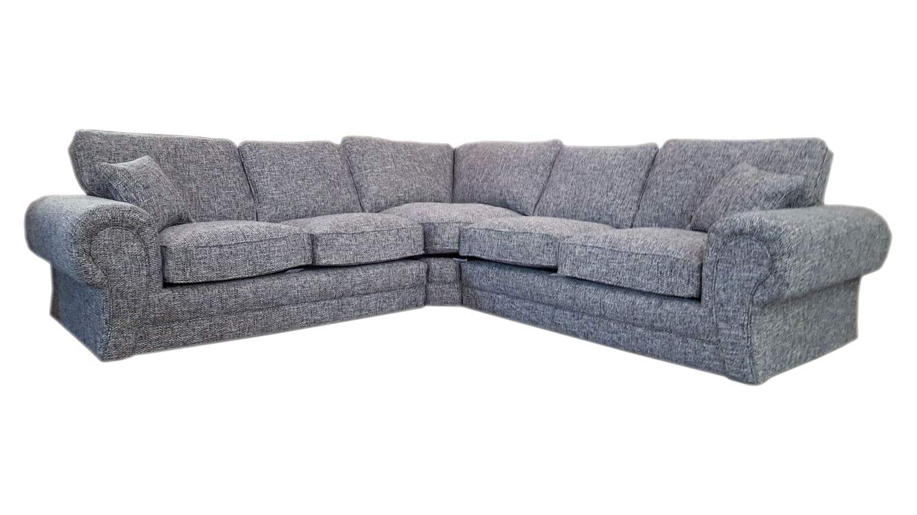 new luxury ethan large fabric 5 seater corner sofa 2 corner 2 grey rh ebay co uk Walmart Futon Beds On Sale sofa bed cheap for sale