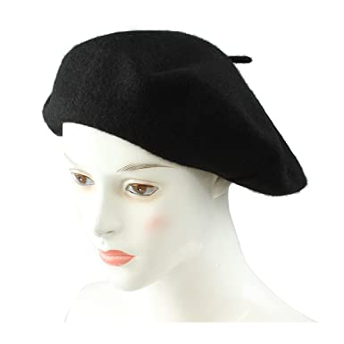 REFURBISHHOUSE Ladies Wool Mix French Beret Hat Warm Winter Hat Ladies  Girls Beret Hat af20ea89f165