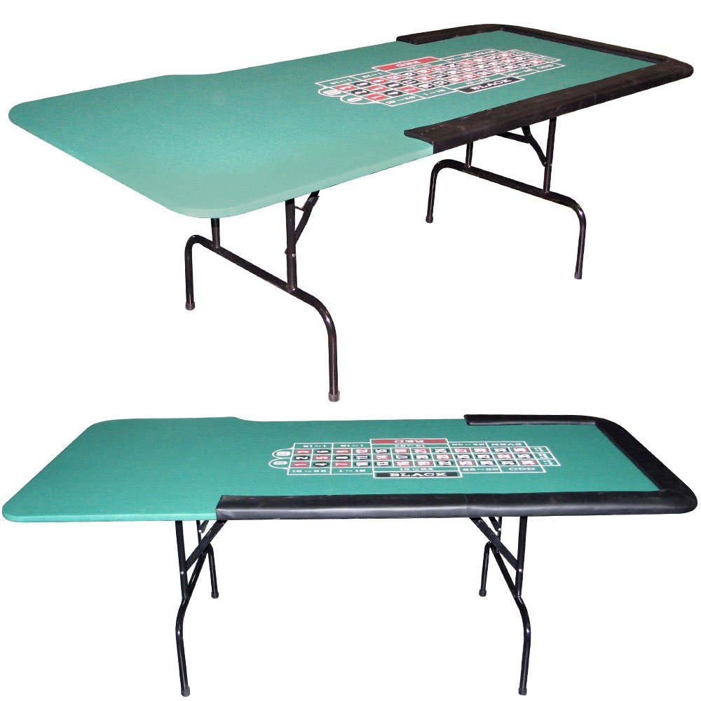 Trademark 84 X 29-Inch Roulette Table With Folding Legs Roulette Table (Green)