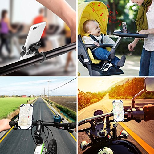 Bike Phone Mount, CHOETECH Aluminum Universal Bicycle Phone Holder Handlebar Mount Compatible iPhone X/8/8 Plus/7/7 Plus/6s/6 Plus,Samsung Galaxy S9/S8/S7/S7Edge/S6,GPS, Google Nexus, LG by CHOETECH (Image #7)